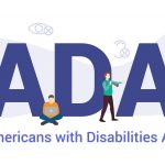 Ada Americans With Disabilities Act Concept With Big Word Or Tex