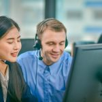 Visually Impaired Call Center Using Headphone Contract Communica